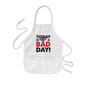 Little Miss Naughty | Today is a Bad Day Kids' Apron