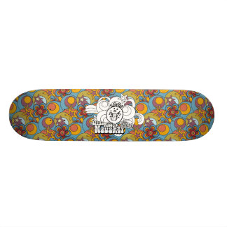 Little Miss Naughty With Bold Background Skateboard Deck