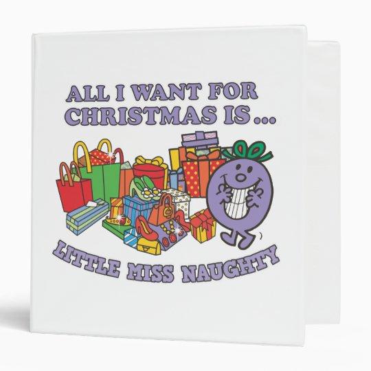 Little Miss Naughty's Christmas Joy Binder