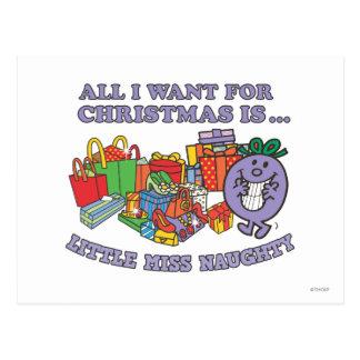 Little Miss Naughty's Christmas Joy Postcard