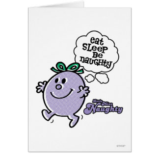 Little Miss Naughty's Three Step Plan Greeting Card
