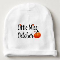 little miss october baby beanie