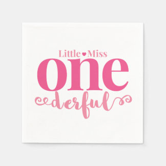 Little Miss Onederful Party Napkins