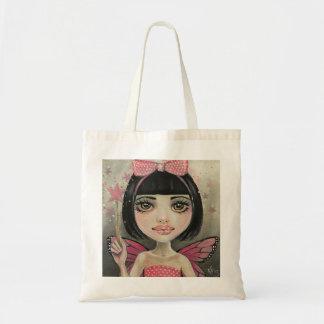 Little Miss Pink Minny Original Art, KimTurnerArt Tote Bag