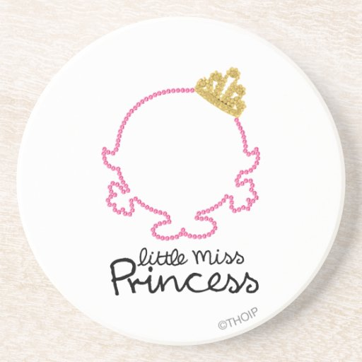 Little Miss Princess | Blank Face Beverage Coaster