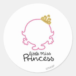 Little Miss Princess | Blank Face Classic Round Sticker