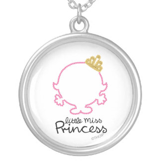 Little Miss Princess | Blank Face Silver Plated Necklace