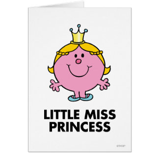 Little Miss Princess | Crown Background Card