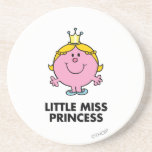 Little Miss Princess | Crown Background Drink Coaster
