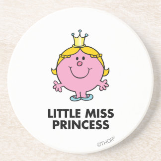 Little Miss Princess | Crown Background Coaster