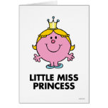 Little Miss Princess | Crown Background Greeting Card