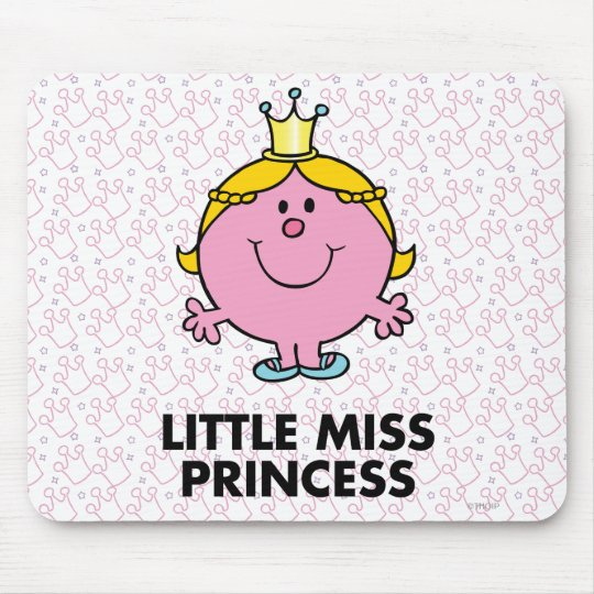 Little Miss Princess | Crown Background Mouse Pad