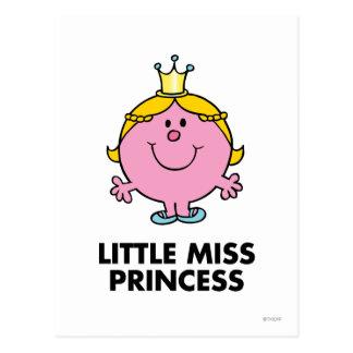Little Miss Princess | Crown Background Postcard