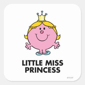 Little Miss Princess | Crown Background Square Sticker