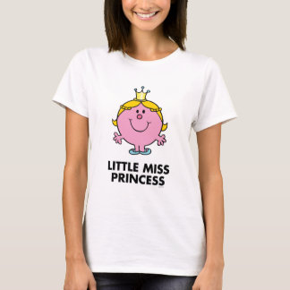 Little Miss Princess | Crown Background T-Shirt