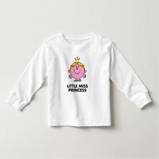Little Miss Princess | Crown Background T Shirt
