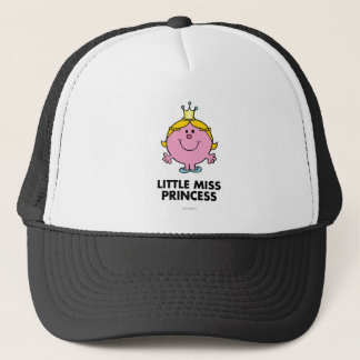 Little Miss Princess | Crown Background Trucker Hat