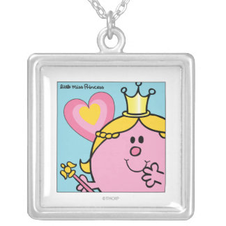Little Miss Princess | Extreme Closeup Silver Plated Necklace