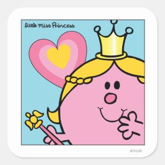 Little Miss Princess | Extreme Closeup Square Sticker