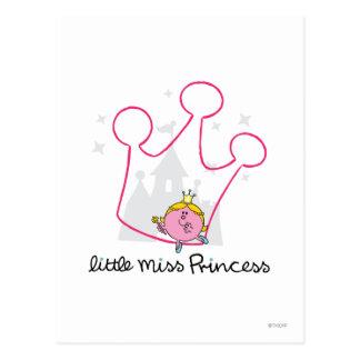 Little Miss Princess | Giant Pink Crown Postcard