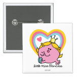 Little Miss Princess | Hearts 2 Inch Square Button