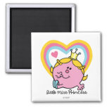 Little Miss Princess | Hearts 2 Inch Square Magnet