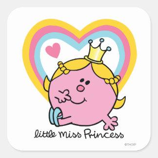 Little Miss Princess | Hearts Square Sticker