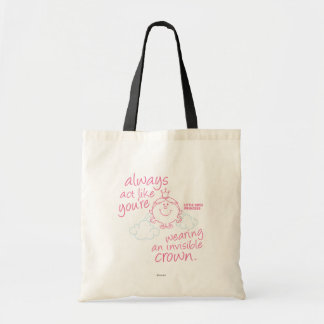 Little Miss Princess   Invisible Crown Budget Tote Bag