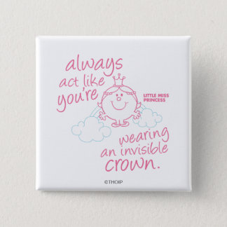 Little Miss Princess | Invisible Crown Button