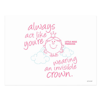 Little Miss Princess | Invisible Crown Postcard