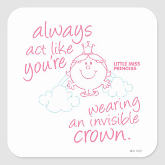 Little Miss Princess | Invisible Crown Square Sticker