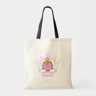 Little Miss Princess | Pink Five Pointed Crown Budget Tote Bag