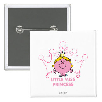 Little Miss Princess | Pink Five Pointed Crown Pinback Button