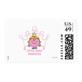 Little Miss Princess | Pink Five Pointed Crown Postage