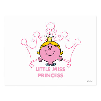 Little Miss Princess | Pink Five Pointed Crown Postcard