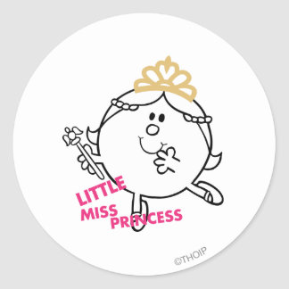 Little Miss Princess | Pink Lettering Classic Round Sticker