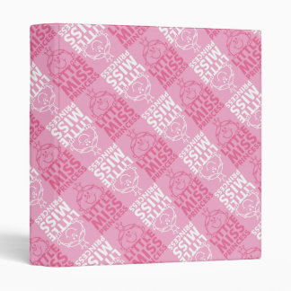 Little Miss Princess | Pretty In Pink Pattern 3 Ring Binder