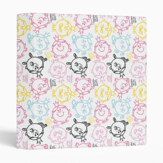 Little Miss Princess | Pretty Pastels Pattern 3 Ring Binder