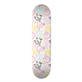 Little Miss Princess | Pretty Pastels Pattern Skateboard