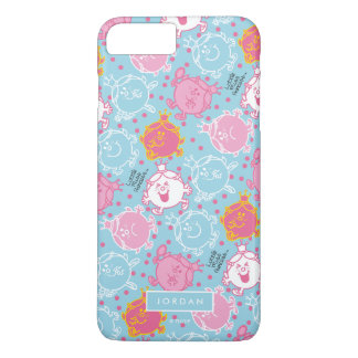 Little Miss Princess | Pretty Pink & Blue Pattern iPhone 8 Plus/7 Plus Case