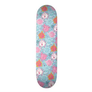 Little Miss Princess | Pretty Pink & Blue Pattern Skateboard