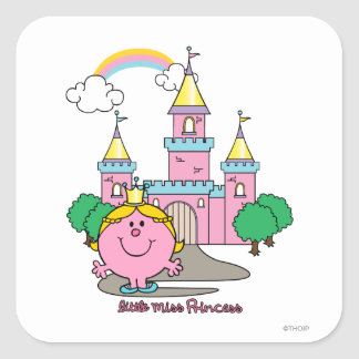 Little Miss Princess | Royal Castle Square Sticker