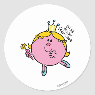 Little Miss Princess | Royal Scepter Classic Round Sticker