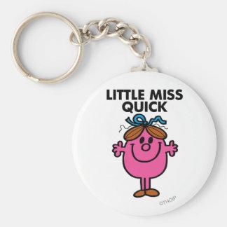 Little Miss Quick | Black Lettering Basic Round Button Keychain