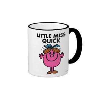 Little Miss Quick | Black Lettering Ringer Coffee Mug