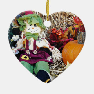 Little Miss Scarecrow Ceramic Ornament