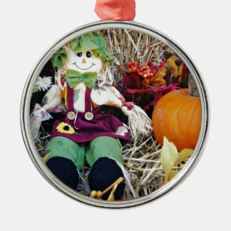 Little Miss Scarecrow Metal Ornament