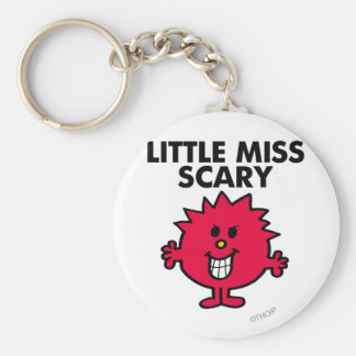 Little Miss Scary | Black Lettering Basic Round Button Keychain
