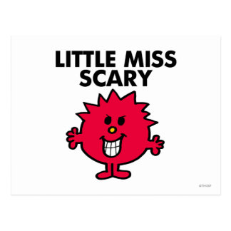 Little Miss Scary | Black Lettering Postcard