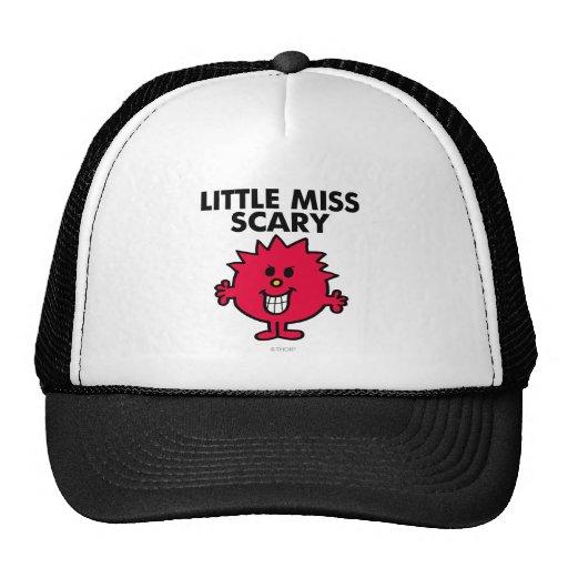 Little Miss Scary   Black Lettering Trucker Hat